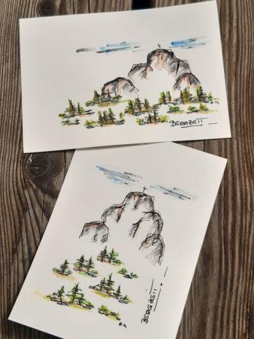 Kartenset Bergzeit