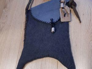 Handgefilzte blaue Tasche